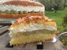Rhubarb cake with meringue - fariba - Rhabarberkuchen Low Carb Desserts, No Bake Desserts, Cake Cookies, Cupcake Cakes, Easy Nutella Brownies, Sweet Recipes, Cake Recipes, The Joy Of Baking, German Baking