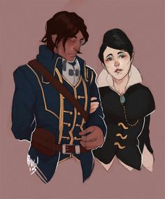 Dishonored - Corvo and Jessamine Dishonored Emily, Emily Kaldwin, Character Concept, Character Design, Magic Magic Magic, The Empress, Bioshock, Funny Comics, Cool Artwork