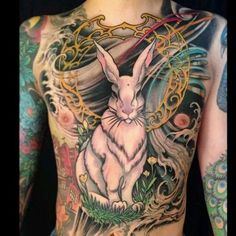 This rabbit tattoo is simply unbelievable.
