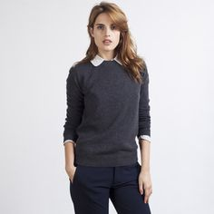 Cashmere Crew Charcoal