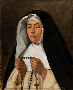Italialainen nunna - The Italian Nun 1901 by Adolf von Becker - Jean Sibelius ( Catholic Art, Religious Art, Religion, Medieval Art, Sacred Art, Global Art, Art Market, Fantasy Characters, Renaissance