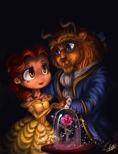 artist: rue789. Beauty and the Beast. Belle and The Beast (Prince Adam).