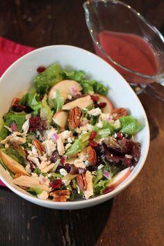 Chicken, Cranberry, Apple, and Pecan Salad