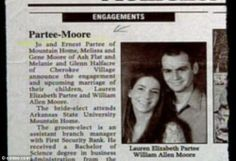 When Marriage Gives You A Funny Name :  THE PARTEE - MOORE WEDDING