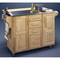 Kitchen Island Breakfast Bar w Stainless Steel Top Light Wood http://www.ebay.com/itm/Kitchen-Island-Breakfast-Bar-w-Stainless-Steel-Top-Light-Wood-/310640475857?pt=US_Kitchen_Islands_Carts=item48539d7ed1