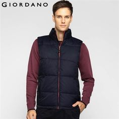 Jackets Standing Collar Puffer Vest Quilted Jackets Sleeveless Warm