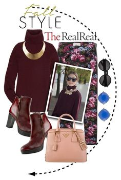"""""""Fall Style With The RealReal: Oxblood Addiction"""" by saraishi ❤ liked on Polyvore featuring moda, Abercrombie & Fitch, The Row, GUESS, Yves Saint Laurent, Carvela Kurt Geiger, Prada y Carolee"""