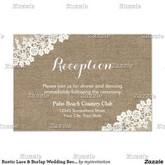 Rustic Lace & Burlap Wedding Reception