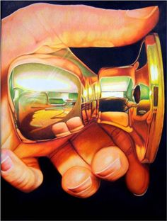 doorknob by jessica Gore on ARTwanted. Could be neat to assign students to draw/paint a metallic object in their hand.