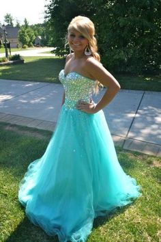 Sweetheart Beading Real Made Charming Prom Dresses,Long Evening