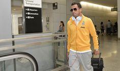 La Juventus arriva in aereoporto a San Francisco