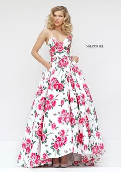 Lovely, Floral Print Ballgown by Sherri Hill
