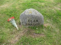 The Stone for the fallen men of Clan Fraser. Culloden Field, Scotland