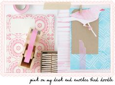 Pretty pinks & turquoise—a lovely use of washi tape to enhance gift tags & other projects❣ (follow this link for inspiration sources & other ideas) a creative mint