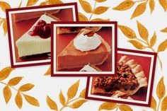 Apple streusel mince pie, no-bake pumpkin & Frozen lemon cream pies retro recipes from the '80s
