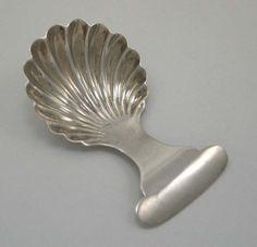 Silver tea caddy spoon