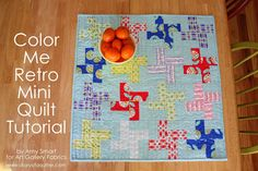Diary of a Quilter - a quilt blog: Color Me Retro mini quilt tutorial