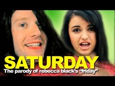 """REBECCA BLACK - FRIDAY SEQUEL """"SATURDAY"""" - NEW SONG! MY MOMENT  (THE ORIGINAL FRIDAY PARODY)"""