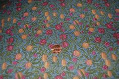 Rose & Hubble Pomegranates William Morris Blue Fabric by GoodStuffInc