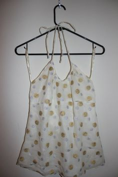 Express Design Studio Gold and Silver Dot Top - $22