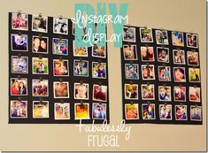 DIY Instagram display copy