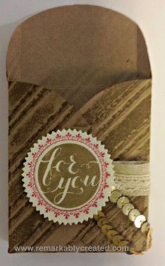 Easy gift boxes from Stampin' Up!s giift enclosure cards - video tutorial @ www.remarkablycreated.com #remarkablycreated #stampinup