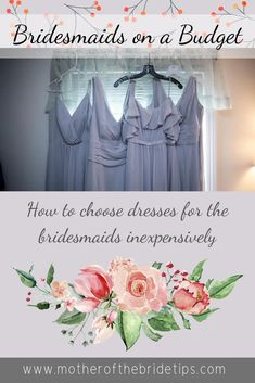 Tips for finding bridesmaid dresses on a budget. Diy Wedding Planner, Wedding Planning On A Budget, Wedding Planning Timeline, Budget Wedding, Wedding Tips, Wedding Checklist Printable, Wedding Checklists, Inexpensive Bridesmaid Dresses, Mismatched Bridesmaid Dresses