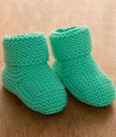 Garter Stitch Baby Booties Free Knitting Pattern LW5205