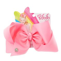 <P>Get the classic Jojo look with this super fun large pink hair bow from the Jojo Siwa collection. The bow has been attached to a metal salon clip making it really easy to wear. </P><UL><LI>Jojo Siwa collection <LI>Large pink bow <LI>Metal salon Clip<BR></LI></UL><P>The Jojo Siwa signature bow collection is available at Claire's and has been inspired by Jojo's iconic dance hair styles featuring a fun range of bright and sparkly bows.<BR></P>
