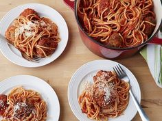 Barefoot Contessa Spaghetti and Meatballs :: The BEST Meatballs ever!