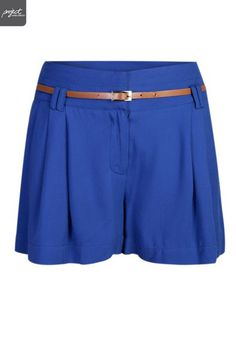 Ladies Belted Pleated Shorts | Shorts / Crops