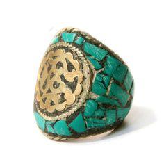 Big Tibetan Turquoise Ring
