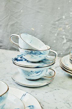 Slide View: 3: Strata Cup & Saucer