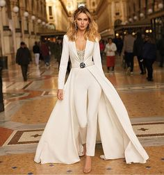 Berta Spring Summer 2020 Collection Wedding Pantsuit FashionBest Summer Wedding Guest Outfits For W Evening Dresses, Prom Dresses, Formal Dresses, Wedding Dresses, Wedding Outfits, Spring Dresses, Elegant Dresses, Wedding Bride, Wedding Pantsuit