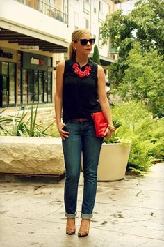 Red + Black + Leopard = Simple & Chic