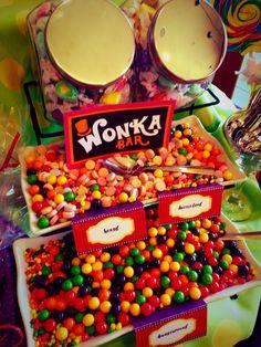 Willy Wonka Candy Bar #coloradospringsevents #gardenofthegodsgourmetcatering #candybar #catering