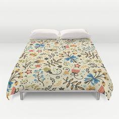 Floral Bloom Duvet Cover by Anna Deegan - $99.00