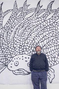 Ai Weiwei  for his first exhibition in Paris (Le bon Marché) 2016