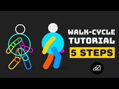 (12) Walk Cycle Tutorial in After Effects   Only in 5 Steps - No Third Party Plugin - YouTube