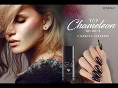 💚NOWOŚĆ! Semilac Top Chameleon No Wipe 💙 Chameleon, Snapchat, Manicure, Nail Polish, Beauty, Instagram, Tops, Nail Bar, Nails