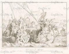 640 год. Аквилейский епископ Павел с клиром и паствой, забрав престол и церковные реликвии, отбывает в Градо, спасаясь от лангобардов. Storia Veneta, л.4. Венеция, 1864