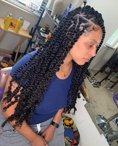 Feed In Braids Hairstyles, Twist Braid Hairstyles, Braided Hairstyles For Black Women, Twist Braids, African Hairstyles, Weave Hairstyles, Girl Hairstyles, Twists, Box Braid Hair
