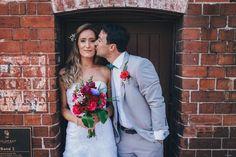 Wedding awesomeness in Sydney City  #sydneywedding #sydneyweddingphotographer #bride #kiss #bouquet #observatoryhill