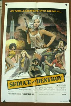 exploitation movie posters | SEDUCE AND DESTROY, 1974. Original 1 sheet Movie Poster poster ...