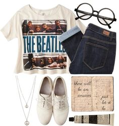 """just let it be"" by rosiee22 ❤ liked on Polyvore"