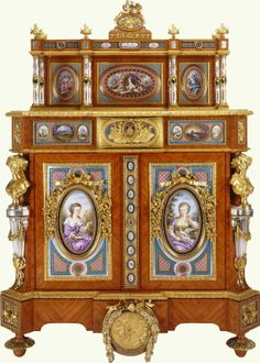 In The Royal Collection by Edouard Kreisser (active 1843-63) (cabinet maker)