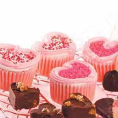 Yummy heat shape cupcakes. I am making them again this Valentines. They are soo good.