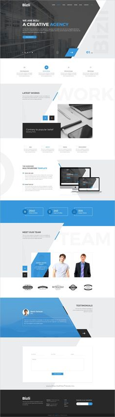 Bizli is a modern and creative design #PSD template for #webdev multipurpose #business websites download now➩ https://themeforest.net/item/bizli-creative-multipurpose-psd-template/19242834?ref=Datasata