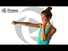 Cardio Kickboxing and Bodyweight Cardio Workout - Fat Burning Intervals - YouTube