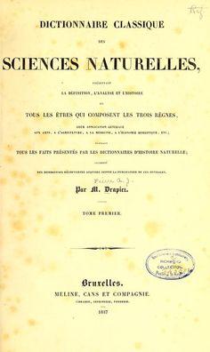 t.1 (1837) - Dictionnaire classique des sciences naturelles : - Biodiversity Heritage Library